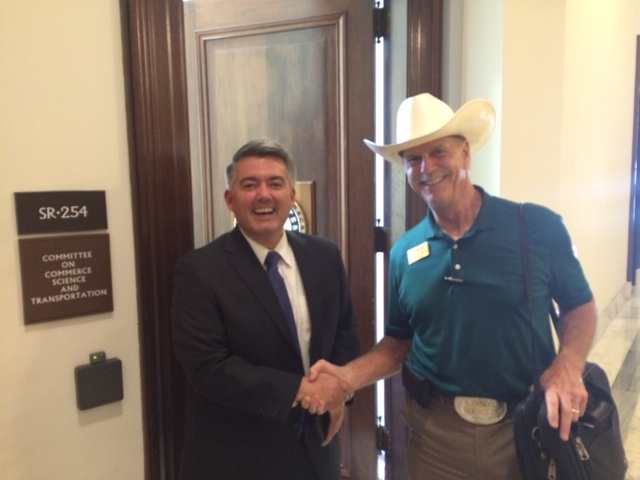 Howard Wooldridge and Congressman Cory Gardner